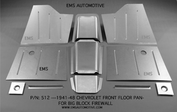 Front Floor Pan Kit For Small Block Firewall