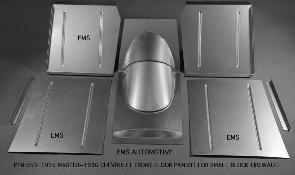 FLOOR PAN KIT FOR SMALL BLOCK FIREWALL