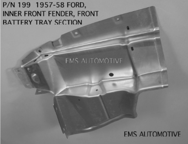 INNER FRONT FENDER FRONT BATTERY TRAY SECTION