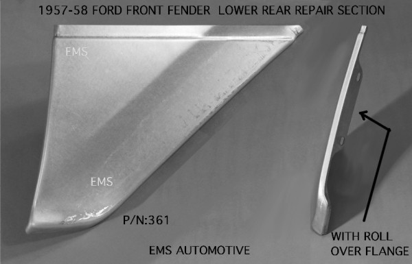 LOWER FENDER REPAIR SECTION