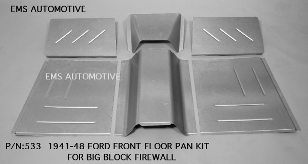 FRONT FLOOR PAN KIT-FOR  BIG BLOCK FIREWALL