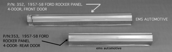 ROCKER PANEL - REAR DOOR