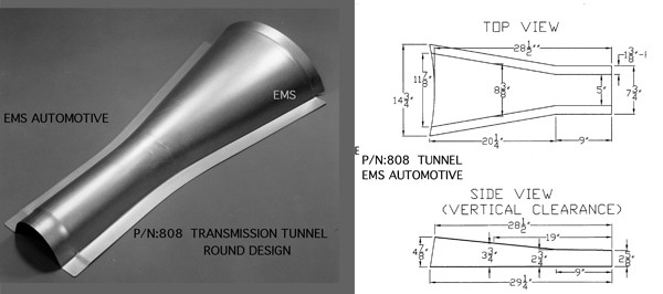TRANS TUNNEL -LOWER ROUND DESIGN