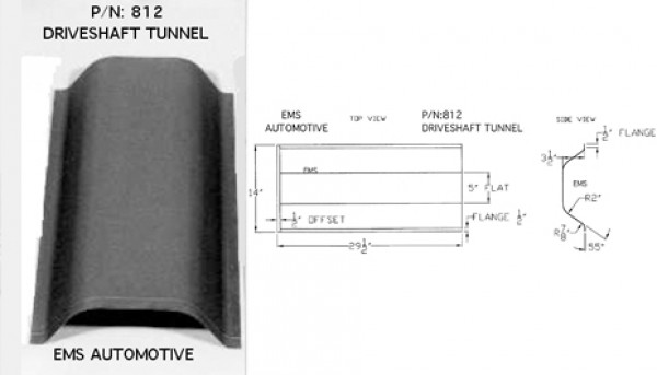 DRIVESHAFT TUNNEL FLAT-TOP